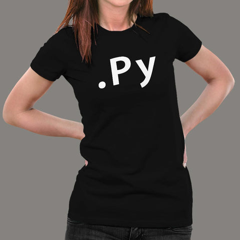 Py File Format Python Programming T-Shirt For Women Online India