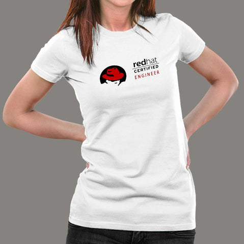 Red Hat Certified Engineer T-Shirt For Women