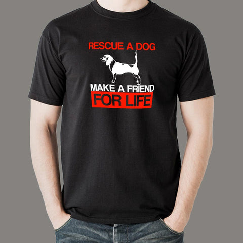 Rescue A Dog Make A Friend For Life Beagle Adopt Love T-Shirt For Men Online India