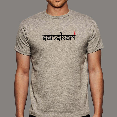 Sanskari Indian Desi Boy Hindi Funny T-Shirt online india
