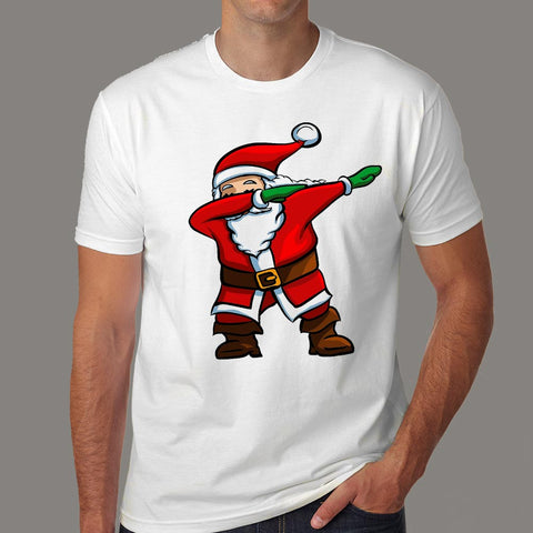 Santa Dabbing Men's Christmas T-shirt India Online