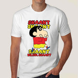 Shin Chan Shaant Shaant Hindi Cartoon T-shirt For Men
