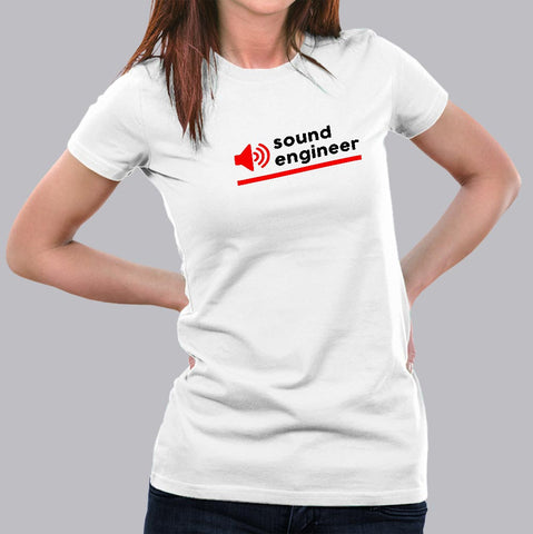 Sound Engineer T-Shirt For Women india