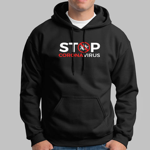 Stop Corona Virus Hoodies For Men Online India