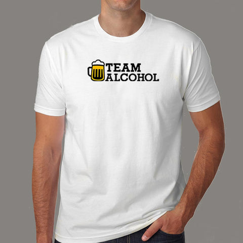 Team Alcohol T-Shirt For Men India