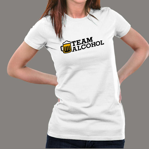Team Alcohol T-Shirt For Women Online IndiaTeam Alcohol Fullsleeve T-Shirt For Women Online India