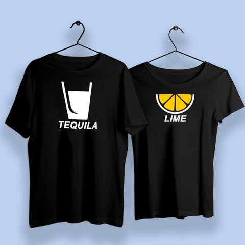 Tequila And Lime Couple Matching T-Shirts India Online India