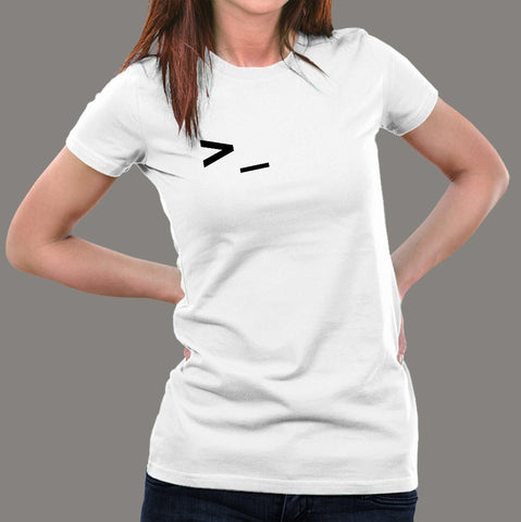 Command Prompt Line Coding T-shirt For Women in India