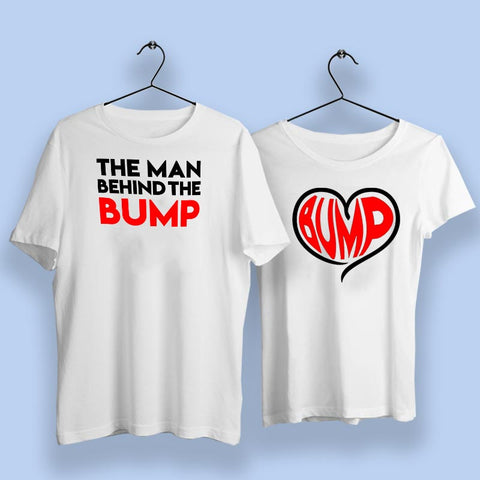 The Man Behind The Bump Couple T-Shirts Online India