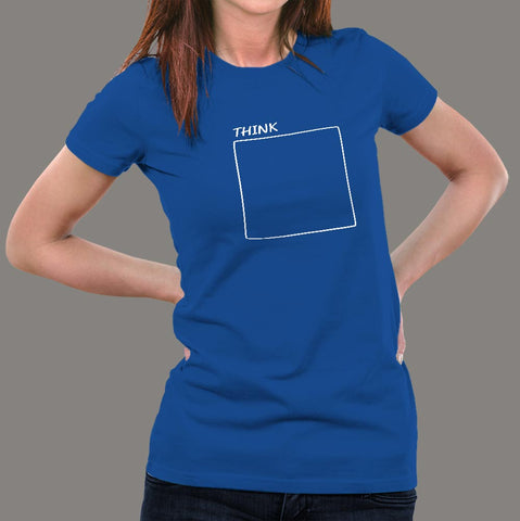 Think Outside The Box T-Shirt For Women