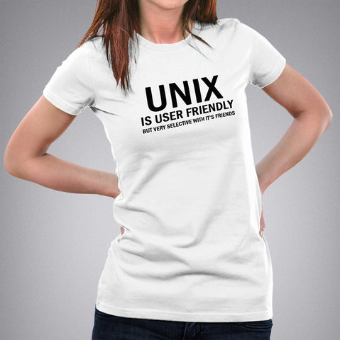 Unix is User Friendly Geeky T-shirt for Women