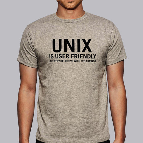 Unix is User Friendly Geeky T-shirt for Men online india