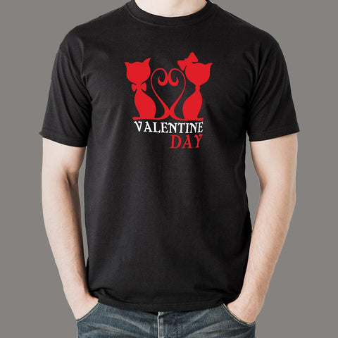 Valentines Day Funny Cat T-Shirt For Men