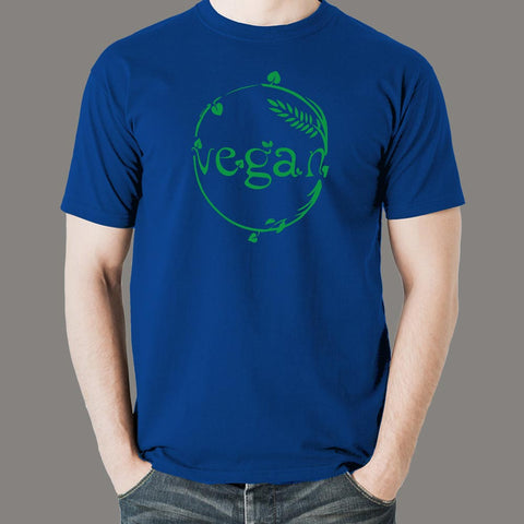 Vegan Green Leaves Vegetarian Men's T-shirt