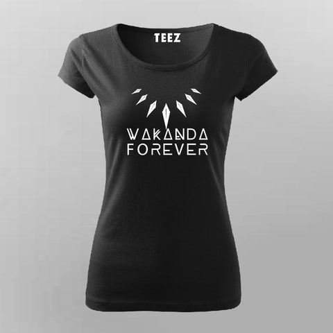 Wakanda Forever Black Panther T-Shirt For Women Online India