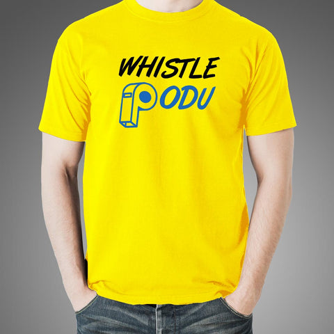#WhistlePodu Men's CSK Yellow T-shirt Online India