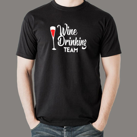 Wine Drinking Team T-Shirt For Men Online India