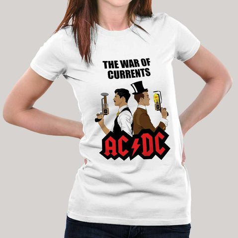 ACDC Tesla Edison Science tshirt India