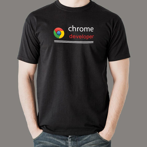 Google Chrome Developer Men's Profession T-Shirt Online India