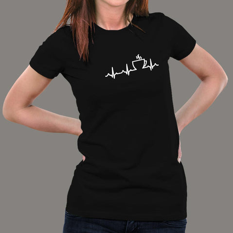 Coffee Heartbeat T-Shirt For Women online india