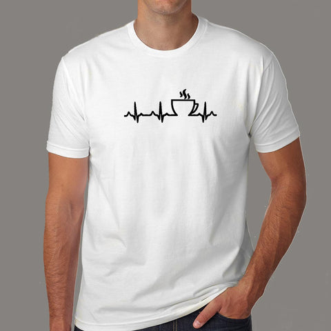 Coffee Heartbeat T-Shirt For Men online india
