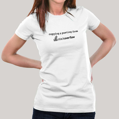 Copying and Pasting from Stack Overflow Women's T shirt