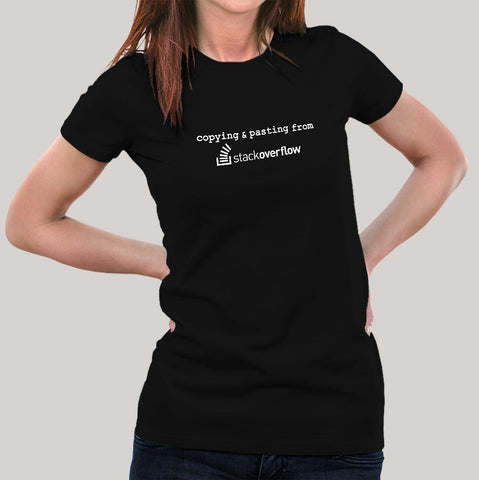 stack overflow women's programming t-shirt india