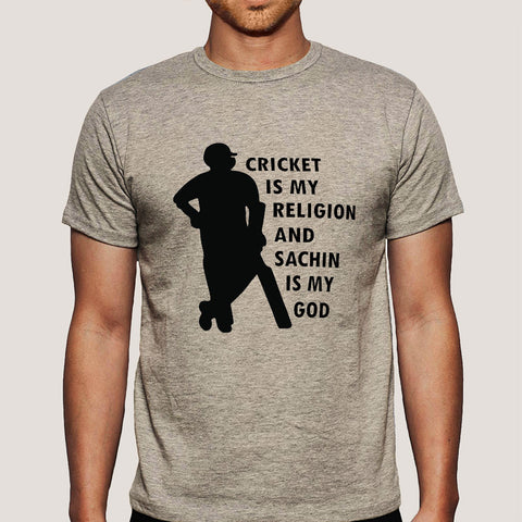 Cricket is My Religion & Sachin Is My God Men's T-shirt