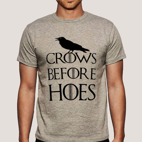 Crows Before Hoes GoT Parody Men's T-shirt