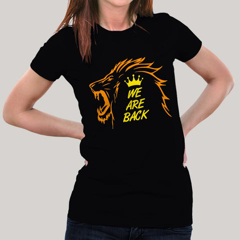 Chennai Super Kings - We are back Women's T-shirt