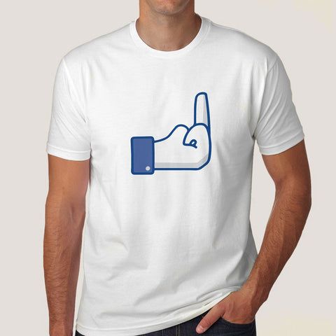 Fuck you facebook button tshirt india