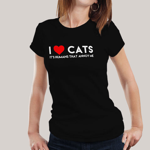 cats lovers women's t-shirt india