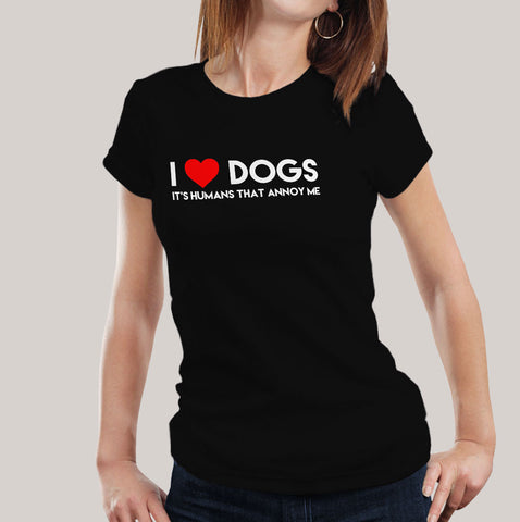 i love dogs women t-shirt india