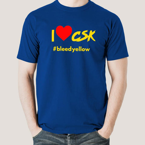 I Love CSK Men's Chennai Super Kings Cotton T-shirt