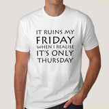 funny office friday tshirt india