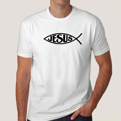 Jesus fish christianity t-shirt india
