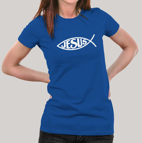 Jesus Fish Women's Christian T-shirt
