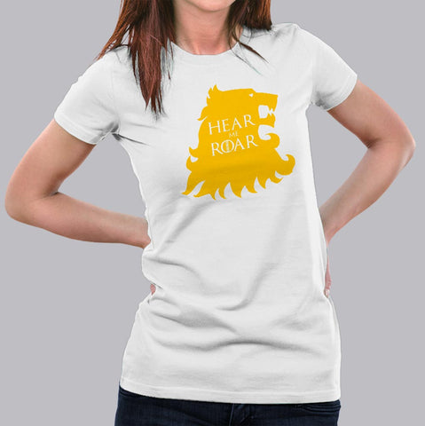 Hear Me Roar GOT House Lannister T-Shirt For Women