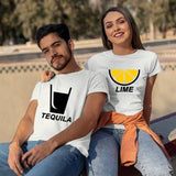 Tequila And Lime Couple Matching T-Shirts India