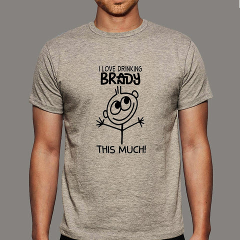 I Love Drinking Brandy This Much T-Shirt For Men Online India