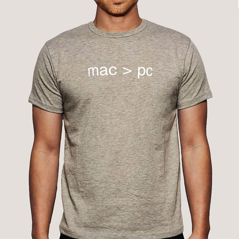 Mac > PC Men's T-shirt