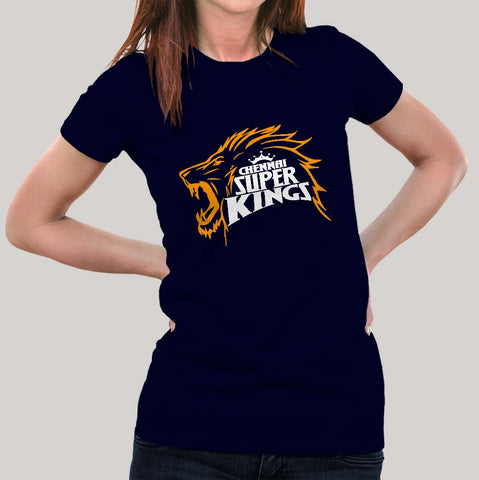 Women's  Chennai Super Kings Fan Cotton T-shirt