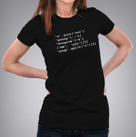 'Never' 'Gonna' 'Give' Python Code Women's programmers T-shirt Online India