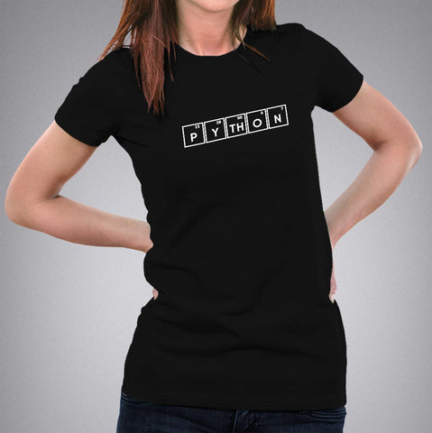 Python - Periodic Table Women's Programming T-shirt online