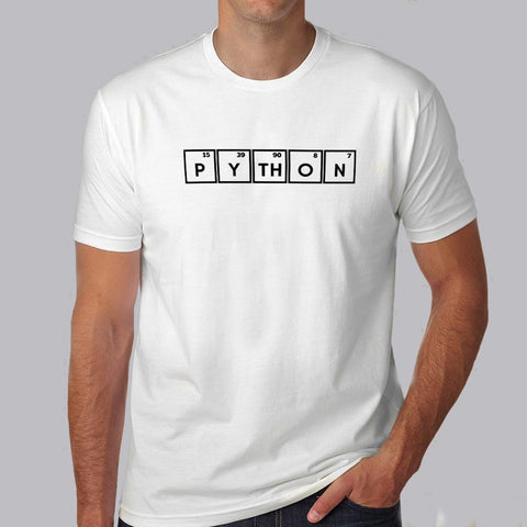Python - Periodic Table Men's Programming attitude T-shirt online india