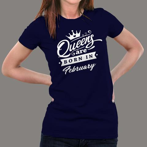 Buy This Queen's Are Born In February Offer T-Shirt For Women