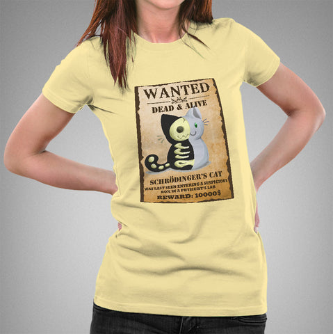 Schrödinger's Cat Wanted Women's T-shirt
