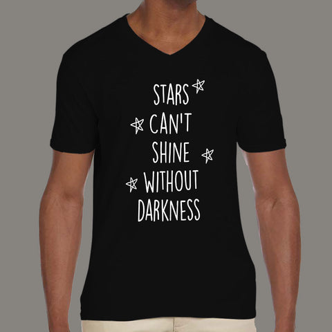 Stars Can't Shine Without darkness Cool Men's comics v neck T-shirt online