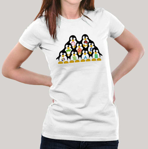 Tux Army Linux T-shirt for Women