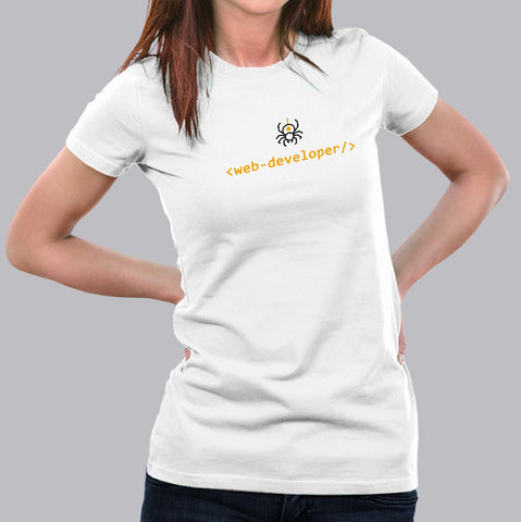 Funny Web Developer T-Shirt For Women